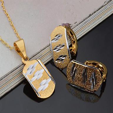 للمرأة اطقم ذهب و مجوهرات مجوهرات قديم euramerican في حزب مناسبة / حفلة لباس يومي مطلية بالذهب سبيكة مربع