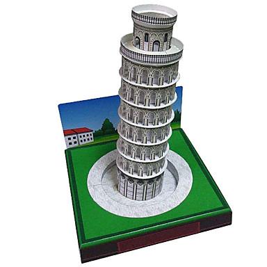 Puzzle 3D Modelul de hârtie Pătrat Turn Clădire celebru Arhitectură Reparații Hârtie Rigidă pentru Felicitări Unisex Cadou