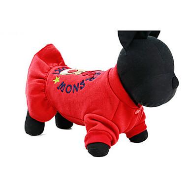 كلب الفساتين ملابس الكلاب كاجوال/يومي أميرة أحمر