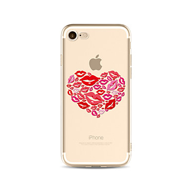 hoesje Voor Apple iPhone X iPhone 8 Plus Transparant Patroon Achterkant Hart Sexy dame Zacht TPU voor iPhone X iPhone 8 Plus iPhone 8