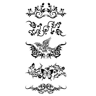 Tattoo Aufkleber Tier Serie Muster Unterer Rückenbereich Waterproof Damen Herren Teen Flash-Tattoo Temporary Tattoos