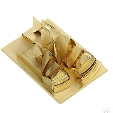 3D-puzzels Legpuzzel Metalen puzzels Modelbouwsets Speeltjes Architectuur 3D Sydney Opera House DHZ Aluminium Metaal Niet gespecificeerd