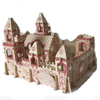 Puzzle 3D Modelul lemnului Μοντέλα και κιτ δόμησης Jucarii Castel Arhitectură 3D Reparații Simulare Lemn Ne Specificat Adolescent Bucăți