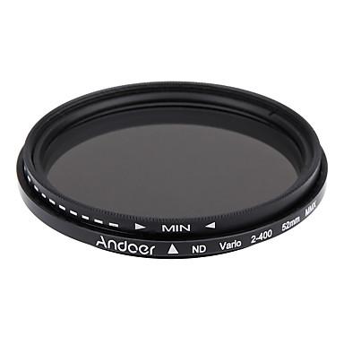 Andoer 52mm nd fader densitate neutră reglabil nd2 la nd400 filtru variabil pentru canon nikon dslr camera