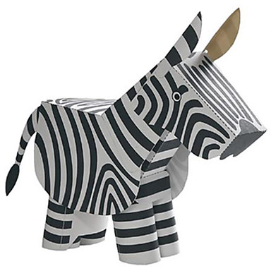 3D - Puzzle Papiermodel Modellbausätze Quadratisch Pferd Zebra Tiere Heimwerken Hartkartonpapier Klassisch Alle Altersgruppen