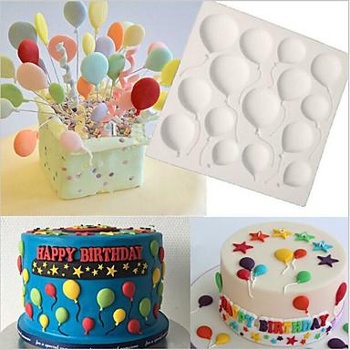 عيد ميلاد البالونات فندان كعكة سيليكون قوالب كب كيك العفن أدوات الخبز الشوكولاته كونفيتاريا
