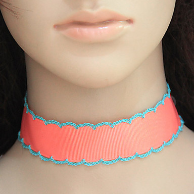 Damen Modisch Euramerican Halsketten Stoff Aleación Halsketten . Party Alltag