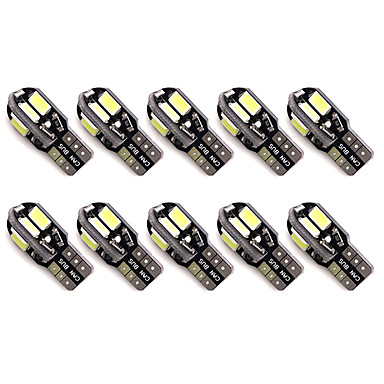 10pcs t10 8 smd 5630 led canbus fout gratis auto parkeerlichten w5w 8smd geleid auto wig staart kant lampen leeslampen dc12v