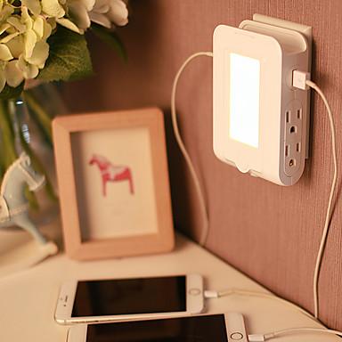 Usb oplader 2 poorten Desk Charger Station Automatische Uitschakeling Met Wire Mangement Met USB-poort USA Oplaadadapter