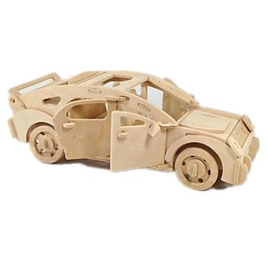Speelgoedauto's 3D-puzzels Legpuzzel Hout Model Vliegtuig Automatisch 3D DHZ Hout Klassiek 6 jaar en ouder