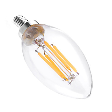 YWXLIGHT® 4W 300-400 lm E12 أضواء شموغ LED C35 4 الأضواء COB تخفيت ديكور أبيض دافئ أس 110-130V