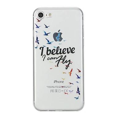 Hülle Für Apple iPhone 7 Plus iPhone 7 Muster Rückseite Wort / Satz Weich TPU für iPhone 7 Plus iPhone 7 iPhone 6s Plus iPhone 6s iPhone