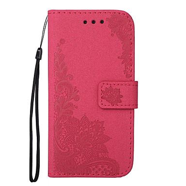 Maska Pentru Apple iPhone 7 Plus iPhone 7 Titluar Card Portofel Cu Stand Întoarce Model Embosat Carcasă Telefon Floare Greu PU piele