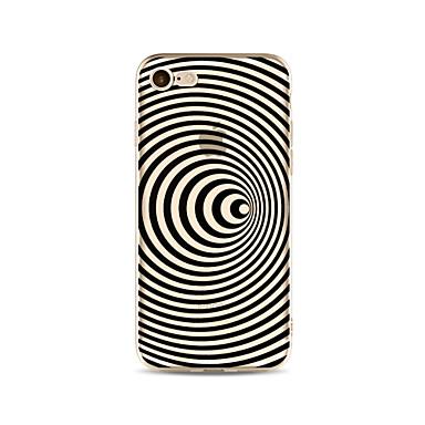 hoesje Voor Apple iPhone X iPhone 8 Plus Transparant Patroon Achterkant Lijnen / golven Zacht TPU voor iPhone X iPhone 8 Plus iPhone 8