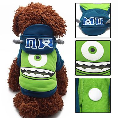 Monster Câine Hanorace cu Glugă Îmbrăcăminte Câini Verde Bumbac Costume Pentru animale de companie Unisex Cosplay Keep Warm