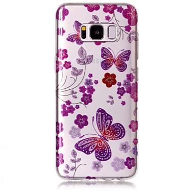 hoesje Voor Samsung Galaxy S8 Plus S8 IMD Patroon Achterkant Vlinder Glitterglans Zacht TPU voor S8 Plus S8 S7 edge S7 S6 edge S6