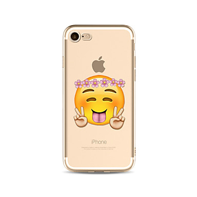 Hülle Für Apple iPhone X iPhone 8 Plus Transparent Muster Rückseitenabdeckung Cartoon Design Blume Weich TPU für iPhone X iPhone 8 Plus