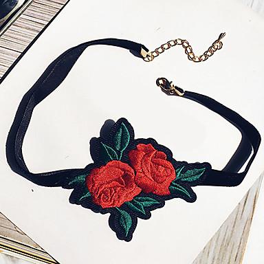 Damen Blume Gestalten Euramerican Modisch Halsketten Stoff Halsketten Party