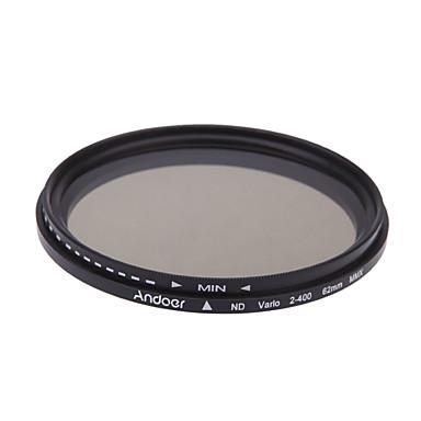 أندور 62 ملليمتر ند ترويسة محايدة كثافة قابل للتعديل nd2 إلى nd400 فلتر متغير لكانون نيكون دسلر كاميرا