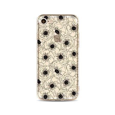 hoesje Voor Apple iPhone X iPhone 8 Plus Transparant Patroon Achterkant Bloem Zacht TPU voor iPhone X iPhone 8 Plus iPhone 8 iPhone 7