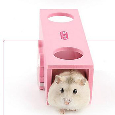 Hamster Holz Langlebig Ställe Rosa