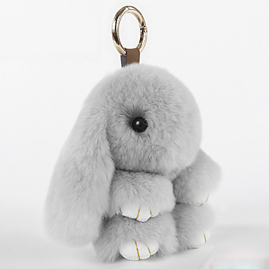tas / telefoon / sleutelhanger bedel cartoon speelgoed rex konijnenbont gsm charmes