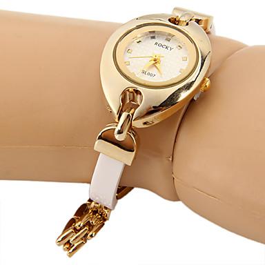 Dames Modieus horloge Unieke creatieve horloge Gesimuleerd Diamant Horloge Chinees Kwarts imitatie Diamond Metaal Band Glitter Wit Bruin