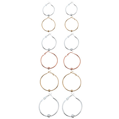 Pentru femei Închizătoare Cercel  Cercei Rotunzi  Design Circular Euramerican Modă Aliaj Metalic MetalPistol Aliaj Circle Shape Geometric