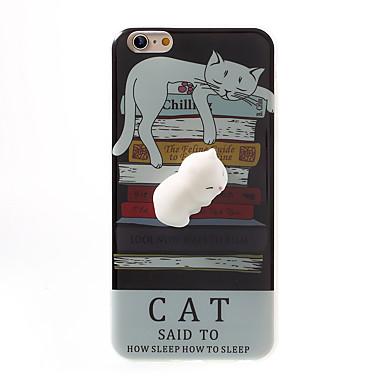 من أجل أغط / كفرات نموذج اصنع بنفسك اسفنجي غطاء خلفي غطاء قطة كارتون ناعم TPU إلى Apple فون 7 زائد فون 7 iPhone 6 Plus iPhone 6s أيفون 6