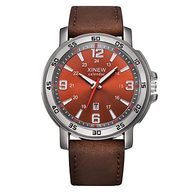 Heren Polshorloge Modieus horloge Kwarts Hot Sale Leer Band Amulet Zwart Bruin Kaki