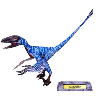 3D-puzzels Bouwplaat Papierkunst Modelbouwsets Dinosaurus Simulatie DHZ Klassiek Kinderen Jongens Unisex Geschenk
