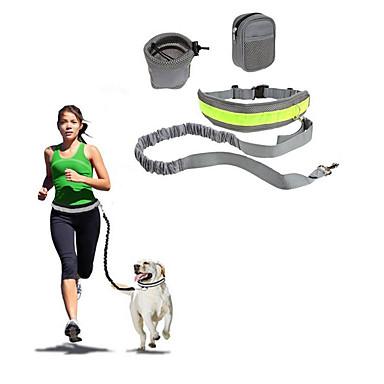 Hund Hands Free Leine Hundehalsband Reflektierend Tragbar Klappbar Sicherheit Solide Nylon Baumwolle Schwarz Grau