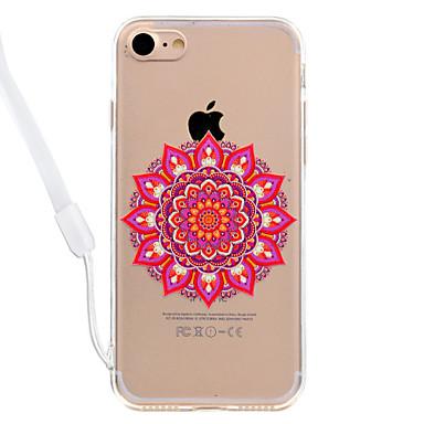 hoesje Voor Apple Transparant Patroon Achterkantje Mandala Hard Acryl voor iPhone 7 Plus iPhone 7 iPhone 6s Plus iPhone 6 Plus iPhone 6s