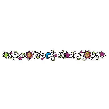 Tatoeagestickers Sieraden Series Dieren Series Bloemen Series Totem Series Overige Series cartoon Non Toxic Patroon Waterproof Cartoon