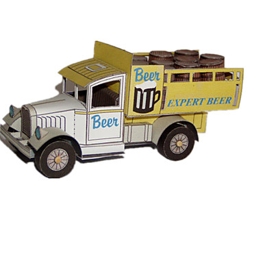 3D - Puzzle Holzpuzzle Papiermodelle LKW Simulation Heimwerken Klassisch Lastwagen Kinder Jungen Unisex Geschenk
