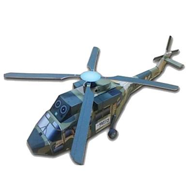 3D - Puzzle Papiermodel Modellbausätze Papiermodelle Helikopter Spielzeuge Quadratisch Flugzeug Helikopter 3D Heimwerken Hartkartonpapier