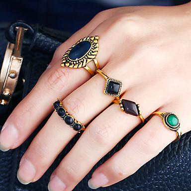 Pentru femei manşetă Ring Inel Band Ring Auriu Aliaj Metalic Reșină Aliaj Circle Shape neregulat Personalizat Design Circular Euramerican