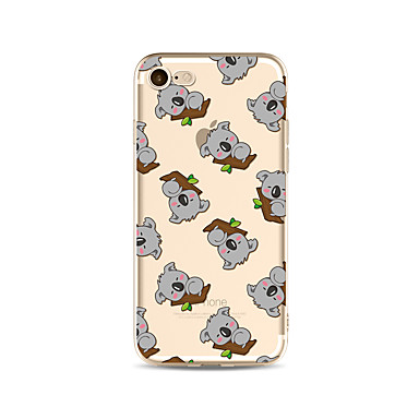 hoesje Voor Apple iPhone X iPhone 8 Plus Transparant Patroon Achterkant Tegel Cartoon dier Zacht TPU voor iPhone X iPhone 8 Plus iPhone 8