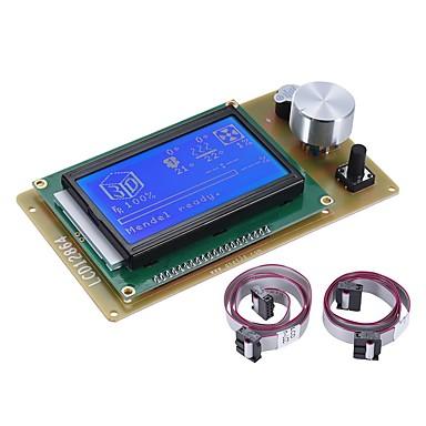 tanie Akcesoria do drukarek 3D-12864 lcd inteligentny ekran kontrolera moduł z kablem do ramp 1.4 arduino mega pololu tarcza arduino odrzut 3D akcesoria do drukarek