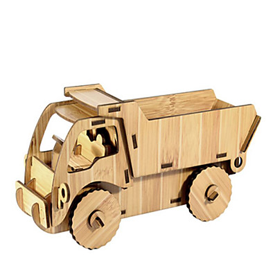 Jucării pentru mașini Puzzle 3D Puzzle Modele de Lemn Mașină Reparații Lemn Lemn natural Vehicul de Construcție Pentru copii Unisex Cadou