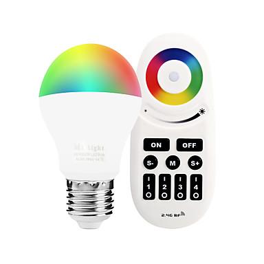 6W 600lm E27 مصابيح صغيرة LED A60(A19) 14 الخرز LED مصلحة الارصاد الجوية 5050 Wifi الأشعة تحت الحمراء الاستشعار تخفيت RGB + الأبيض 85-265V
