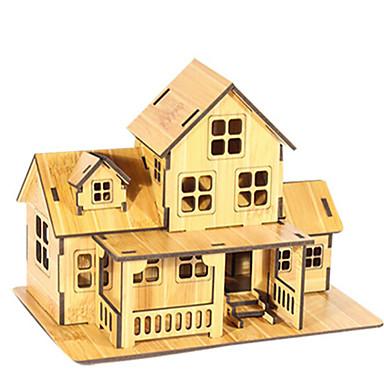 3D - Puzzle Holzpuzzle Spielzeuge Haus Architektur 3D Naturholz Unisex Jungen Stücke