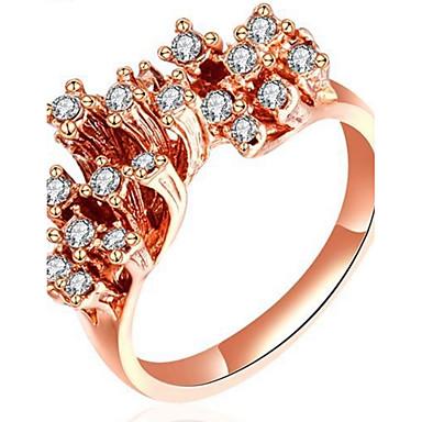 Pentru femei Band Ring Ștras Personalizat Lux Clasic De Bază Sexy Iubire Elegant Cute Stil Modă Aliaj neregulat Inimă Bijuterii Crăciun