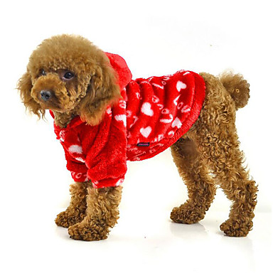Câine Hanorace cu Glugă Îmbrăcăminte Câini Casul/Zilnic Inimi Mov Rosu Albastru Roz Costume Pentru animale de companie