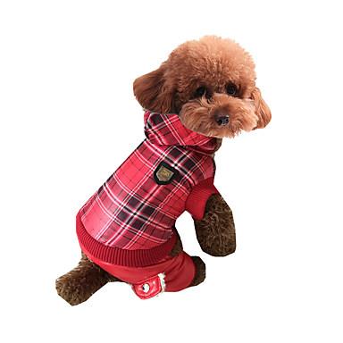 Hond Jumpsuits Hondenkleding Casual/Dagelijks Geruit Rood