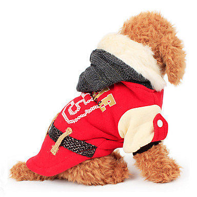 Hond Hoodies Hondenkleding Brits Rood Groen Roze Katoen Kostuum Voor huisdieren Heren Dames Casual / Dagelijks
