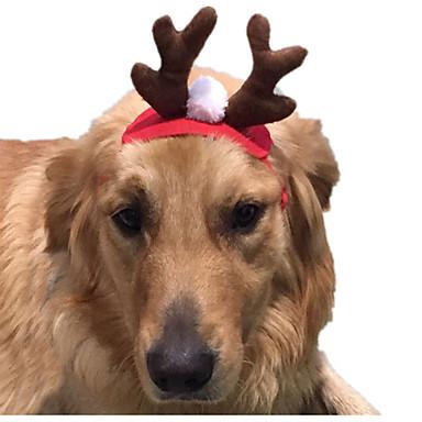 Katze Kostüme Haar Accessoires Hundekleidung Cosplay Weihnachten Solide Rot Kostüm Für Haustiere