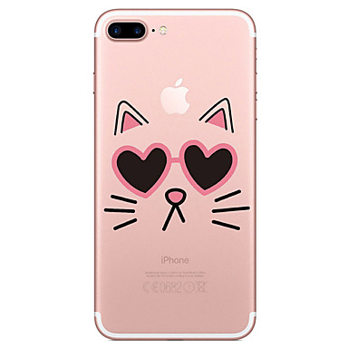Hülle Für Apple iPhone 7 Plus iPhone 7 Transparent Muster Rückseite Katze Cartoon Design Weich TPU für iPhone 7 Plus iPhone 7 iPhone 6s