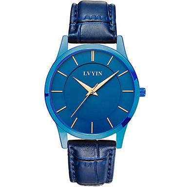 Dames Modieus horloge Kwarts Waterbestendig PU Band Zwart Blauw Bruin