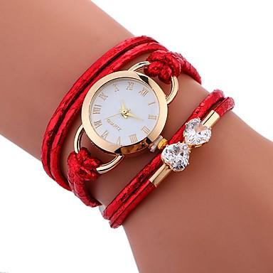 Damen Kinder Einzigartige kreative Uhr Armband-Uhr Modeuhr Armbanduhren für den Alltag Chinesisch Quartz Wasserdicht PU Band Kreativ